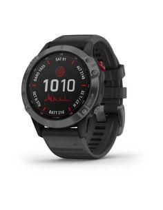 Išmanusis laikrodis Garmin fenix 6 Pro Solar, Pilkos šiferio spalvos su juodu dirželiu